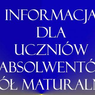 Informacja Matura
